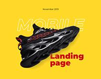 Design Landing page Sneakers