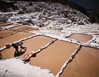 Salt mines of Maras /Peru