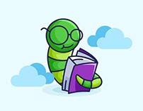 Outstanding Book Worm Free Vector