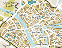 Illustrated map of Historical York