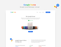 Google home landing page Redesign concept