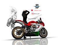 mv agusta f3 800 motorcycle illust