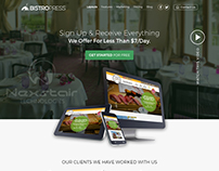 food websites templates create by Nexstair Technology