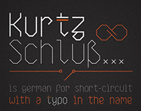 KurtzSchluss | typeface