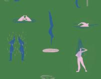 Aqua patterns