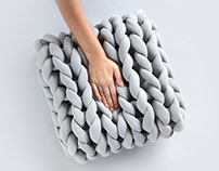 The Square Ohhio Braid Cushion (2017)