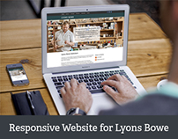 New responsive WordPress website for Lyons Bowe
