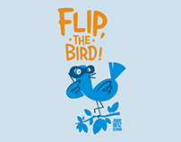 Flip, the bird! logo