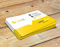 Free PSD Creative Business Card Orange