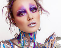 Disco Flake: beauty editorial