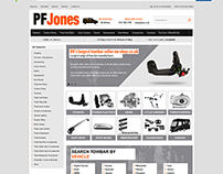 PF Jones ebay shop design