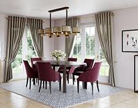 Living Room Design 3D Visualisation for Presentation