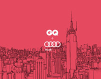 Illustration for GQ + Audi Innovative Thinking