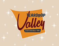 2015: Teardrop Valley - rockabilly band branding