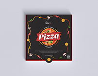 Free PSD Packaging Pizza Mockup