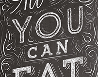 All you can eat - Typographic Illustration