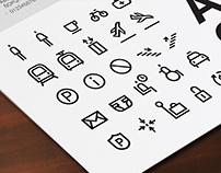 Airport Icons / based on Aktiv Grotesk Font