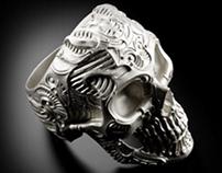 Skull ring DEMETRA silver 925