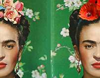 Frida Kahlo by Nickolas Muray and added poppies