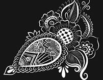 Henna Paisley Design