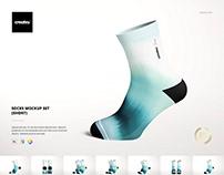Socks Mockup Set (short)