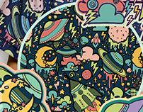 Aliens Pattern Design