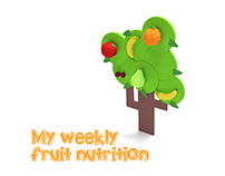 Calendar - My weekly fruit nutrition