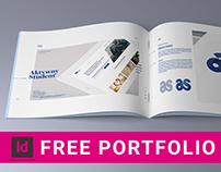 Free minimalistic portfolio - 26 pages
