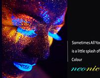 Neon color web design