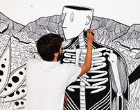 Brainstorming mural