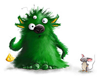 bad bad monster – illustration for children's book