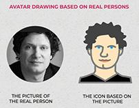Convertir personas en íconos/avatares