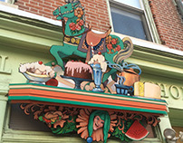Decorative Painting: Outdoor Sign Restoration