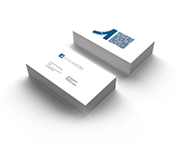AlPHA ADVISORS logo and business card design