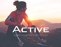 Sportswear concept design // E-commerce // Website