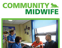Community Midwife NHS Pull up Banner