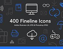 400 Fineline Icons