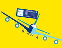 Air plane serch app poster design