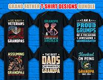 Grand Father T Shirt Design Bundle