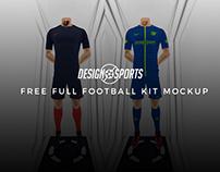 Free Full Football Soccer Kit Mockup