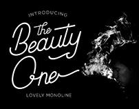Beauty One - Modern Monoline Font (FREEBIES)