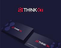 THINKXT logo design