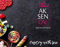 Logo Aksenov. Pastry, group of company