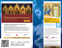 The Getty Center: Exhibition Web Template