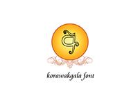 korawakgala sinhala font design