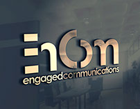 Logo variants for Engaged Cmmunications (En Com)