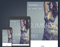 Womshop – E-Newsletter template
