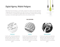 Xtropoly website Home Page Design