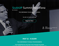 ScaleUP Summit - Barcelona Landing Page