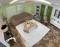 Interior design for modern living room